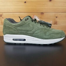 ef2f7ffd87 Nike Air Max 1 Men's Shoes Sz 10 Premium Suede Olive Green White 875844-301
