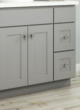"""New 30"""" Gray Shaker Bathroom Vanity Single Sink Cabinet (2 Drawers 1 Door)"""