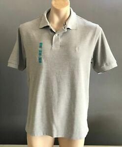 BLUE HARBOUR Classic Grey Cotton Short Sleeve Polo Shirt Size M