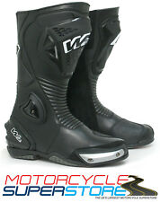 NEW W2 ADRIA-SR FULL RACE SPORT MOTORCYCLE MOTORBIKE TOURING ROAD BOOTS - BLACK