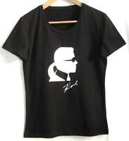 KARL LAGERFELD Tee-shirt tête Karl coton stretch TXL 42 DÉGRIFFÉ