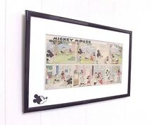 Original Disney Mickey Mouse Comic Mounted And Ready to Frame Vintage Americana