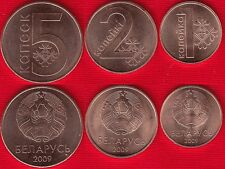Belarus set of 3 coins: 1 - 5 kopeks 2009 (2016) UNC