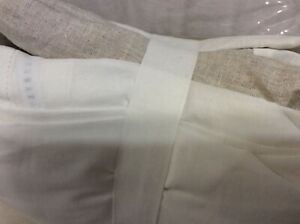 """Pottery Barn Belgian Flax Linen Basic King Bed Skirt NWT Natural Flax 14"""" Drop"""