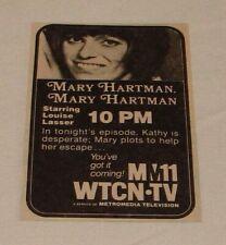 1976 small WTCN tv ad ~ MARY HARTMAN mary Hartman Kathy Is Desperate