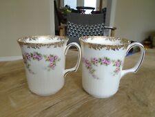 SET OF 2 ROYAL ALBERT DIMITY ROSE FINE ENGLISH CHINA COFFEE CUPS