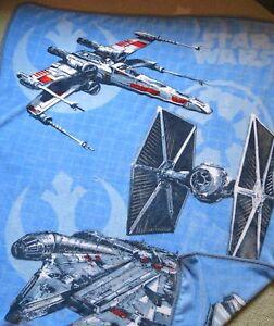 Northwest Plush Star Wars Ships Tie Fighter Millennium Falcon X Wing Boy Blanket