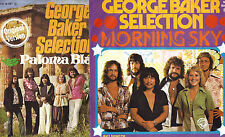 GEORGE BAKER SELECTION lot of 2 GERMAN 45 RECORDS  PIC SLEEVES PS Morning Sky +