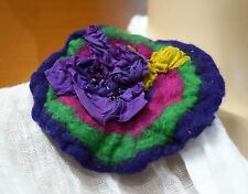BROOCH FELTED HOLIDAY GIFT HANDMADE IN EUROPE ROMANTIC COCKTAIL PARTY BROOCH