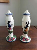 Blue Ridge Pottery French Peasant Tall Salt & Pepper Shakers
