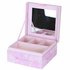 Pink Heart and Home Pretty Decorative Jewellery Storage Box with Mirror