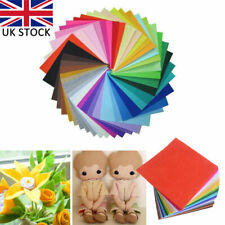 40pcs Square Fabric 1mm Thickness Polyester Felt Bundle Dobby Festive Home Decor