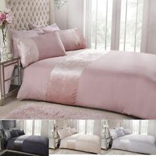 Luxury Velvet Cuff Duvet Quilt Cover Sets Bed Size Pillowcases New Soft Bedding