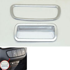 2 pcs ABS Chrome Interior Console Switch Cover Decor Trim For 2016- Kia Sorento