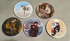Norman Rockwell Knowles Collector Plates. Christmas. Limited Edition. Euc