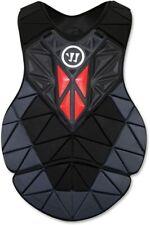 Warrior WarTech Lacrosse Goalie Regulator Chest Pad Black with Red Medium