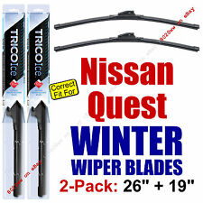 WINTER Wiper Blades 2-Pack Premium - fit 2011-2016 Nissan Quest - 35260/190