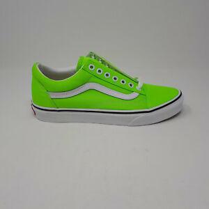 Vans Old Skool Neon Green Gecko VN0A4U3BWT5 Skate Shoe Sneaker Men 7, Womens 8.5