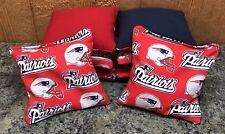 New England Patriots Cornhole Bags, Bag Toss, Bags. Set of 8.