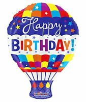 """Balloons 18"""" Happy Birthday Hot Air Mylar Foil Party Decoration"""