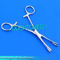 "New 6"" Pennington Forceps Slotted Clamp Standard Piercing Tool"