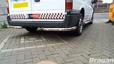 To Fit 07-14 Ford Transit MK7 Stainless Steel Van Rear Corner Bars Chrome + LEDs