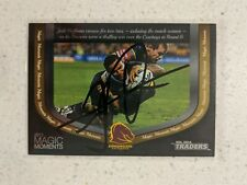 ✺Signed✺ 2014 Traders Magic Moments Josh Hoffman (Broncos) NRL Rugby League card