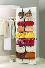 Over the Door Hanging Purse Racks 2 Count Wall Mount Adjustable Hooks storage