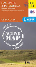 HASLEMERE & PETERSFIELD ACTIVE Map - OL 33 - OS  Ordnance Survey - INC. DOWNLOAD