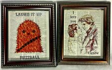 """Star Wars Inspired Dictionary Print Art Lot with """"Fuzzball"""" and """"I Know"""" Quotes"""