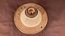 Antique Markel Electric Cast Iron Ceiling Light Flush Mount Art Nouveau Deco.
