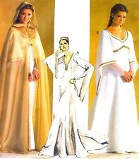 LAST MISS ELEGANT RENAISSANCE WEDDING GOWN CAPE SEWING PATTERN 8-14 McCalls 4378