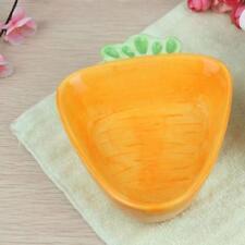 Cartoon Carrot Shaped Ceramic Snack Candy Fruit Plate Kid's Feeding Bowl