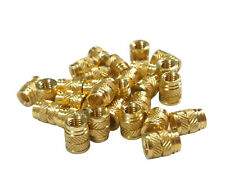 50x 1/4-20 Brass Threaded Heat Set Inserts for Plastic 3D Printing Metal (Long)