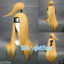 New Akatsuki Deidara women Blonde Cosplay Anime Wigs Classic wigs