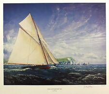 "Gordon frickers ""yacht royal britannia 1893"" sgd lim ed taille: 54cm x 64cm neuf"