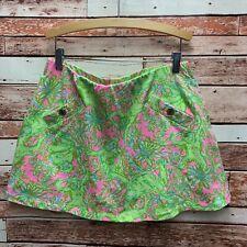 Lilly Pulitzer Women's Green/Pink Floral Madison Skort. Size Medium.