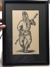 "Rare De Armond Alaska Wood Block Print 1961 #d 1/100 ""Yakutat"" Peace Dancer"