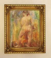 Yolanda Fusco 1920-2009 large original signed oil painting New York artist 1951