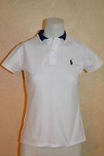 Ralph Lauren Golf sz S Womens White Polo Shirt w/Two-Tone Collar, Rear Name Logo