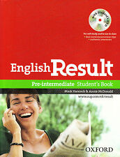 Oxford ENGLISH RESULT PRE-INTERMEDIATE Student's Book with DVD @BRAND NEW@