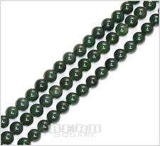 "16"" Canadian Jade Round Beads ap. 8mm Dark Green #18016"