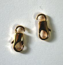 Cierre de tipo mosquetón estrecho 6 x 14 mm de metal oro 1x de bacatus