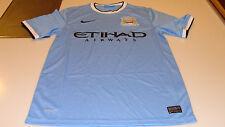 2013-14 Manchester City Fc fútbol Home Jersey Manga Corta Premier League L