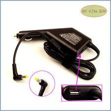 Car DC Power Adapter Charger + USB Port for Acer TravelMate 6593 2420 240 250