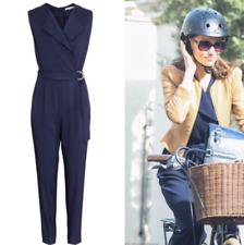 H&M Jumpsuit Overall dunkelblau blue gedrehtes Oberteil - ASO Celebrity