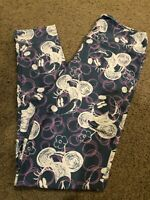 NEW LuLaRoe DISNEY COLLECTION One Size (OS) Leggings / Minnie Mouse Dots purple