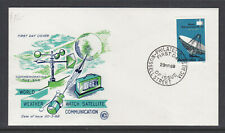 Fdc: 1968 25c Telecomunications On Un Addressed Wcs Cover.