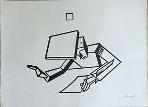 IVO Pannaggi futurismo litografia Codice 1623 70X50 firmata numerata 36/100