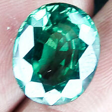 9.95 CTS 14MM EYE CLEAN OVAL FOREST GREEN NATURAL SAPPHIRE